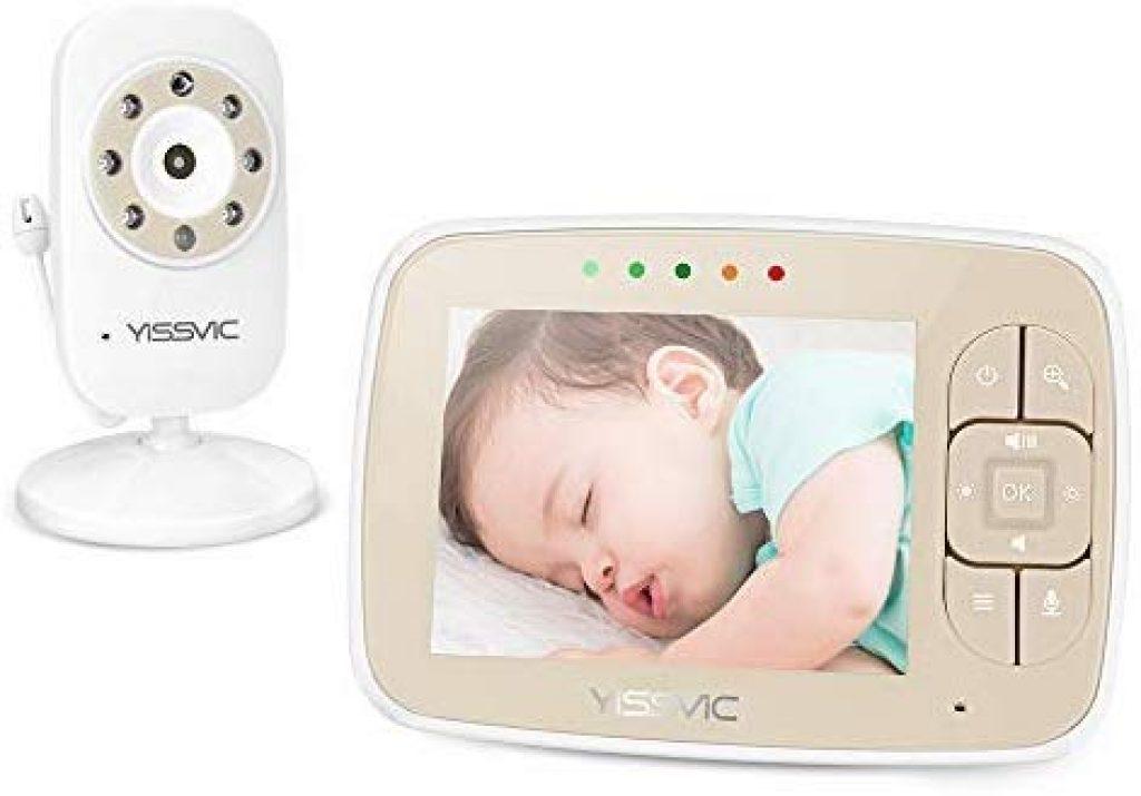 Le babyphone caméra Yissvic a un écran couleur LCD.