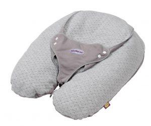 Coussin d'allaitement Tinéo multi-relax en jersey gris