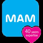 Logo de la marque MAM : 40 ans d'expertise