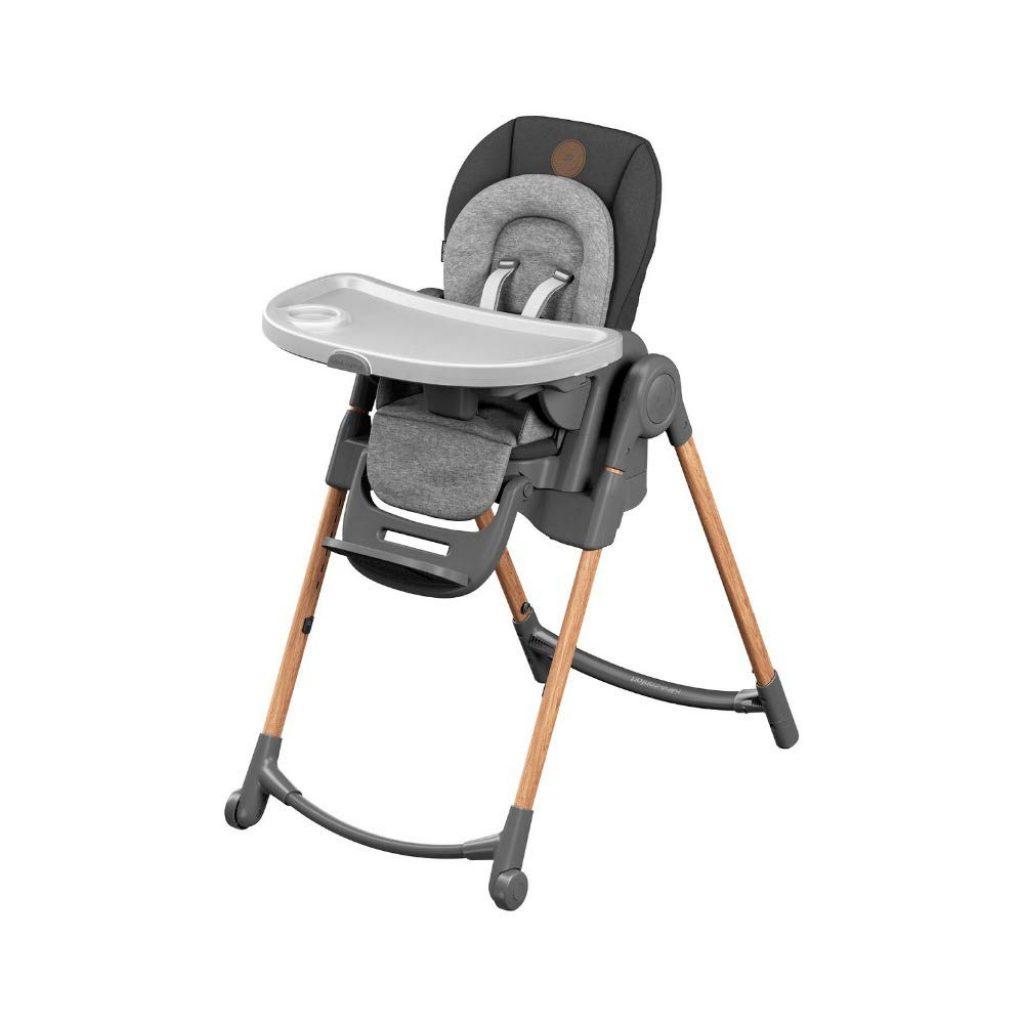La chaise haute Bébé confort Minla peut s'utiliser de la naissance à 6 ans car elle est évolutive.