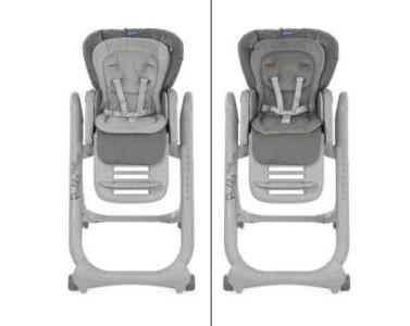 La chaise haute Chicco dispose d'un harnais de sécurité en 5 points.