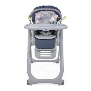 La chaise haute Polly magic est une chaise haute qui fait transat pour bébé.