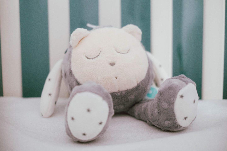 La peluche bruit blanc my Hummy aide votre bébé à trouver le sommeil rapidement.