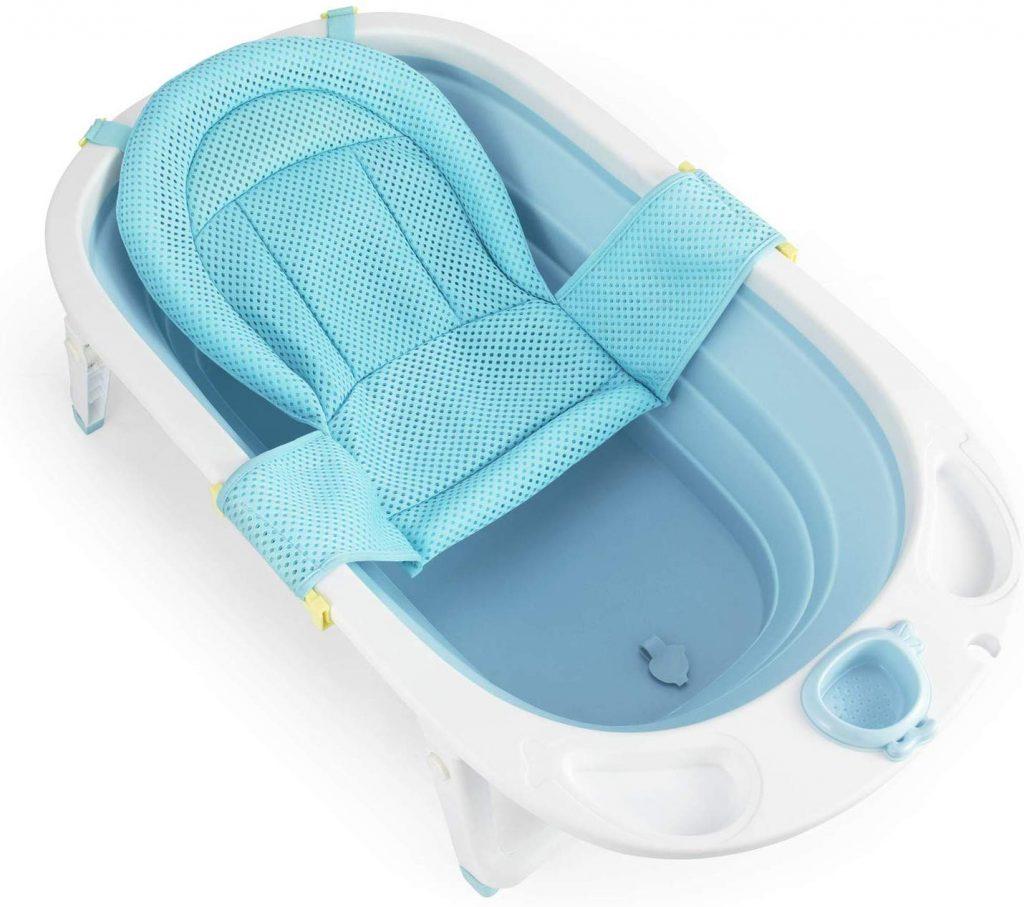 La baignoire bébé pliable Fascol existe également en rose.