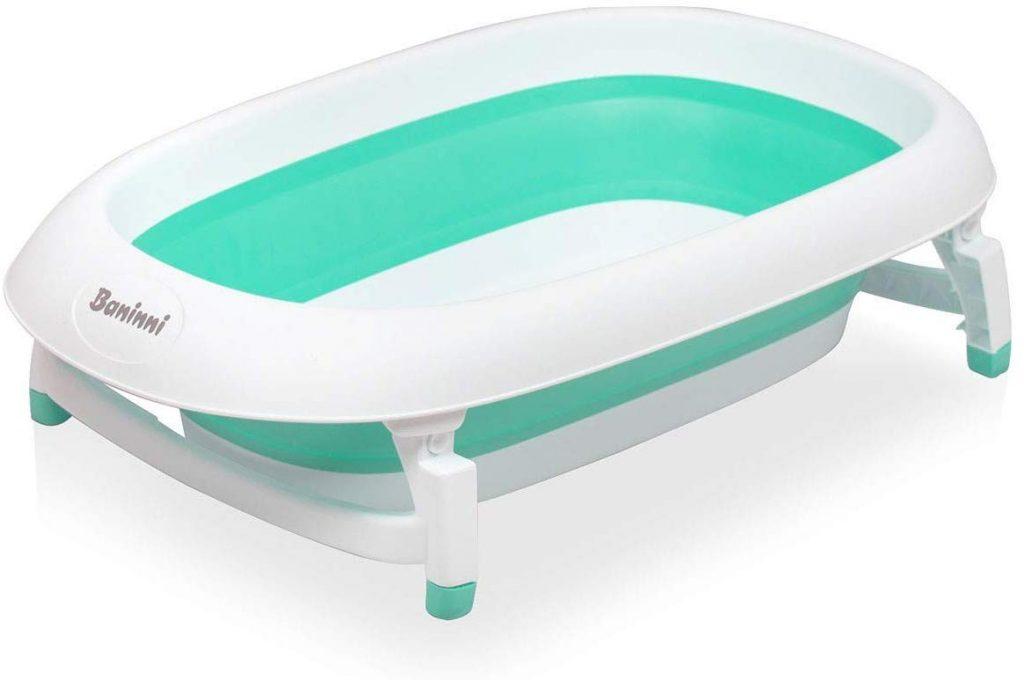 La baignoire pliable bébé peut être utilisée de la naissance à 3 ans.