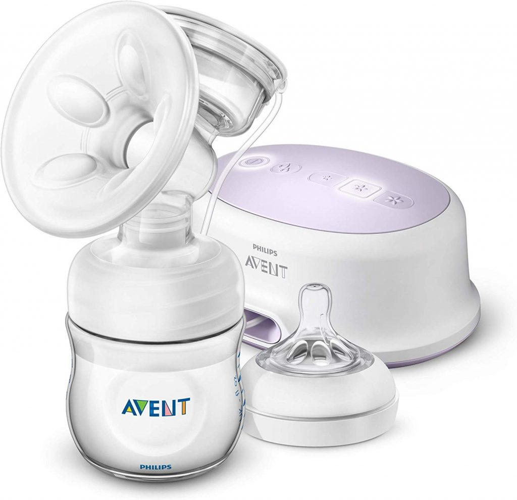 Le tire-lait électrique Philips Avent SCF332/31 existe en pompage simple ou double.