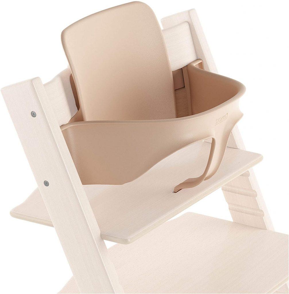 Le baby set de Stokke permet d'utiliser la chaise Tripp Trapp dès l'âge de 6 mois.