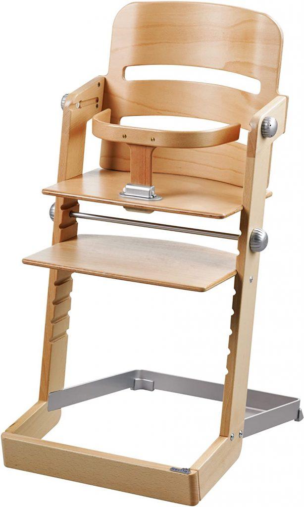 La chaise haute Geuther Tamino peut supporter le poids d'un adulte de 85 kilos.