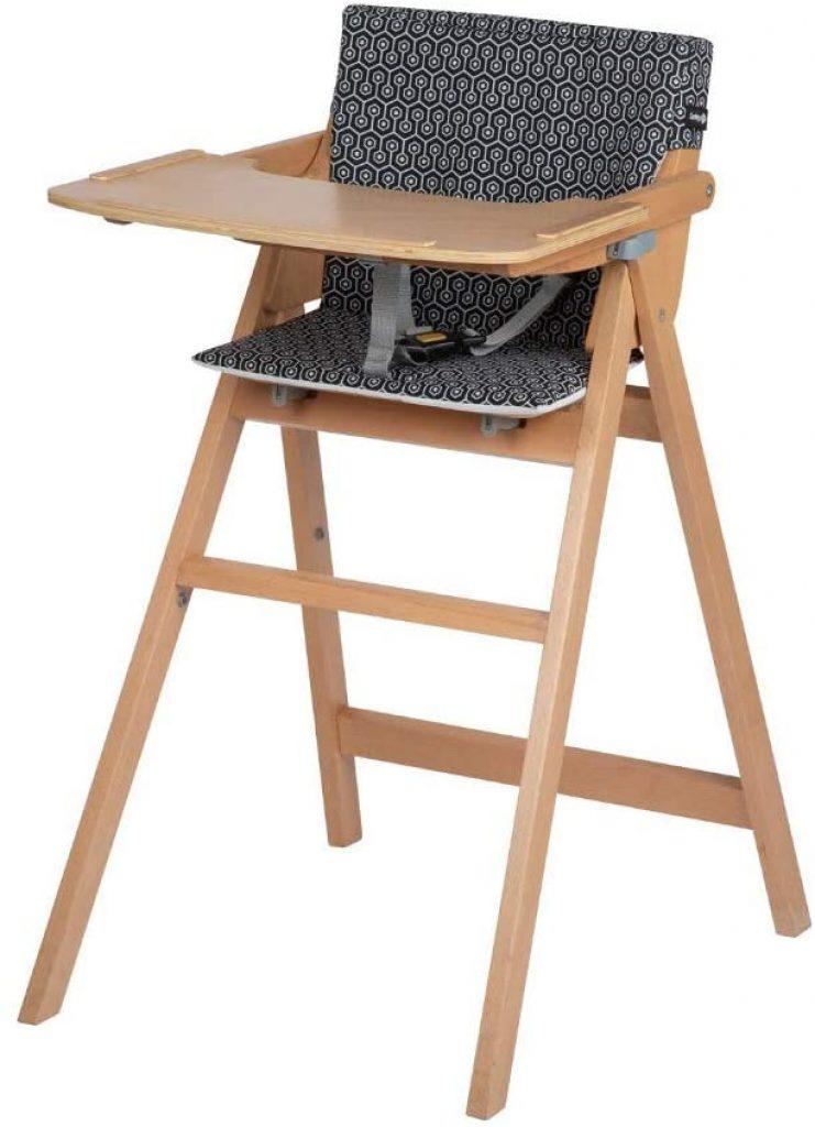 La chaise haute en bois Safety Nordik est pliable.
