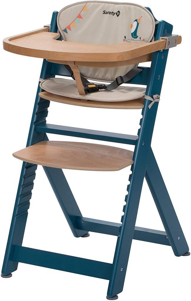 Cette chaise haute Safety First s'utilise de 6 mois à 10 ans.