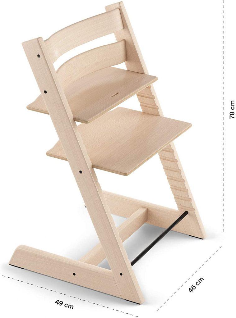 La chaise Tripp Trapp peut jouir d'une utilisation à vie.