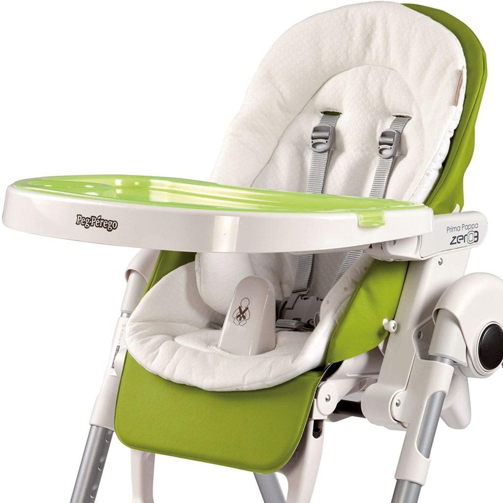 Ce coussin réversible s'adapte à toutes les chaises hautes et poussettes de la marque Peg Perego.