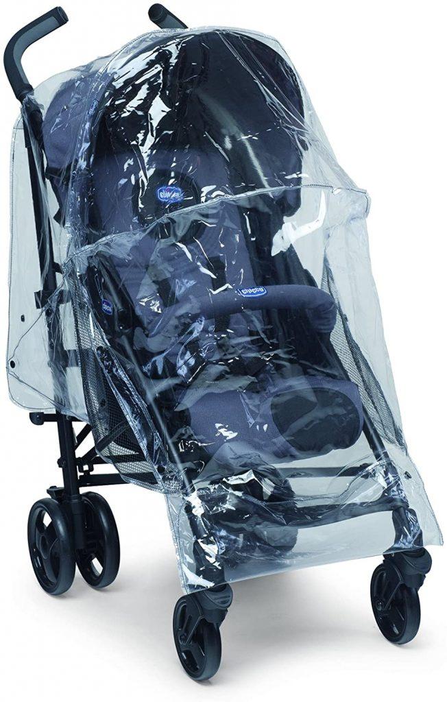 L'habillage pluie universel Chicco permet de protéger votre enfant de la pluie.