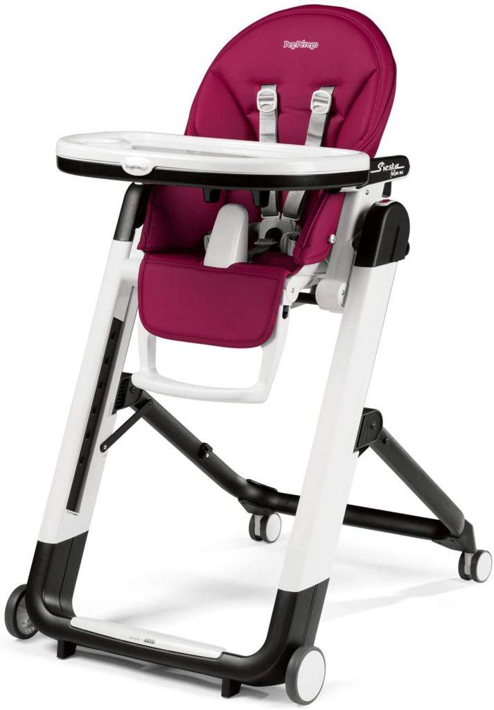 La Peg Perego chaise haute Siesta peut s'utiliser de la naissance à 3 ans.