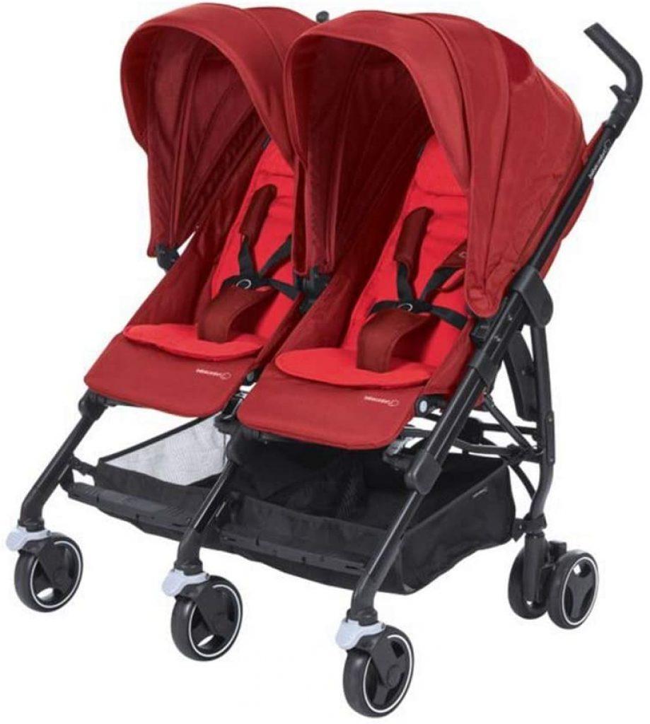 La poussette double Bébé Confort Dana for 2 peut accueillir 2 bébés.