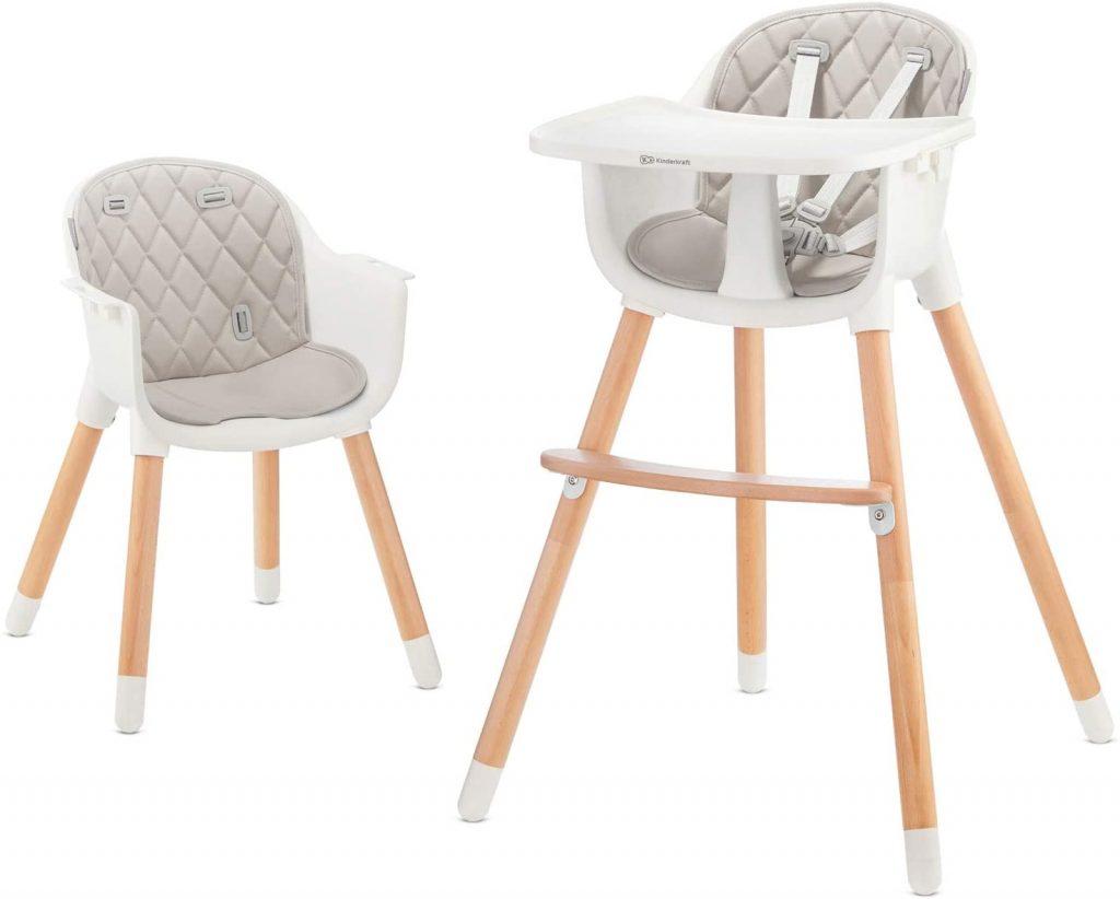 La chaise haute bébé évolutive SIENNA devient une chaise de jeu pour enfant.