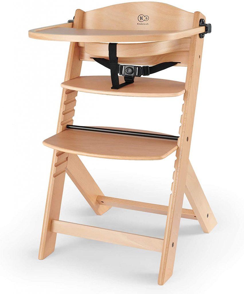 La chaise haute en bois ENOCK est évolutive.