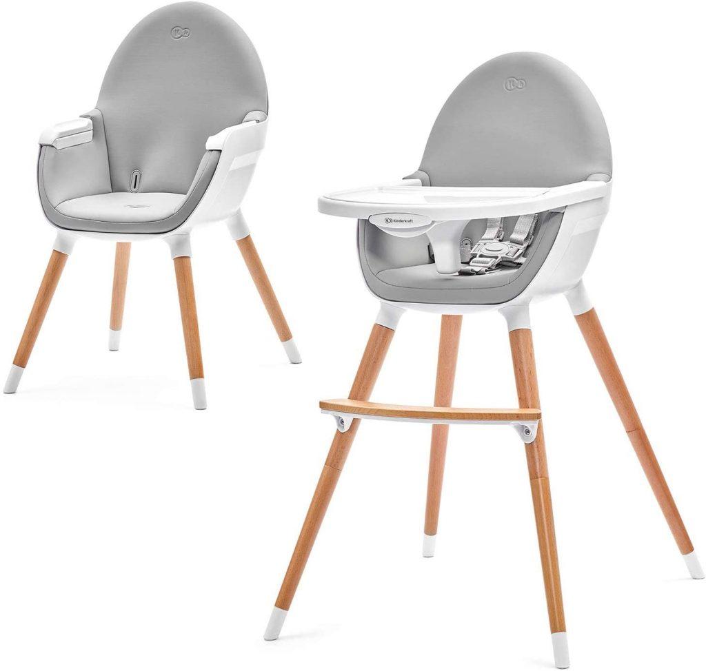 La chaise haute bébé évolutive FINI devient une chaise pour enfant plus tard.