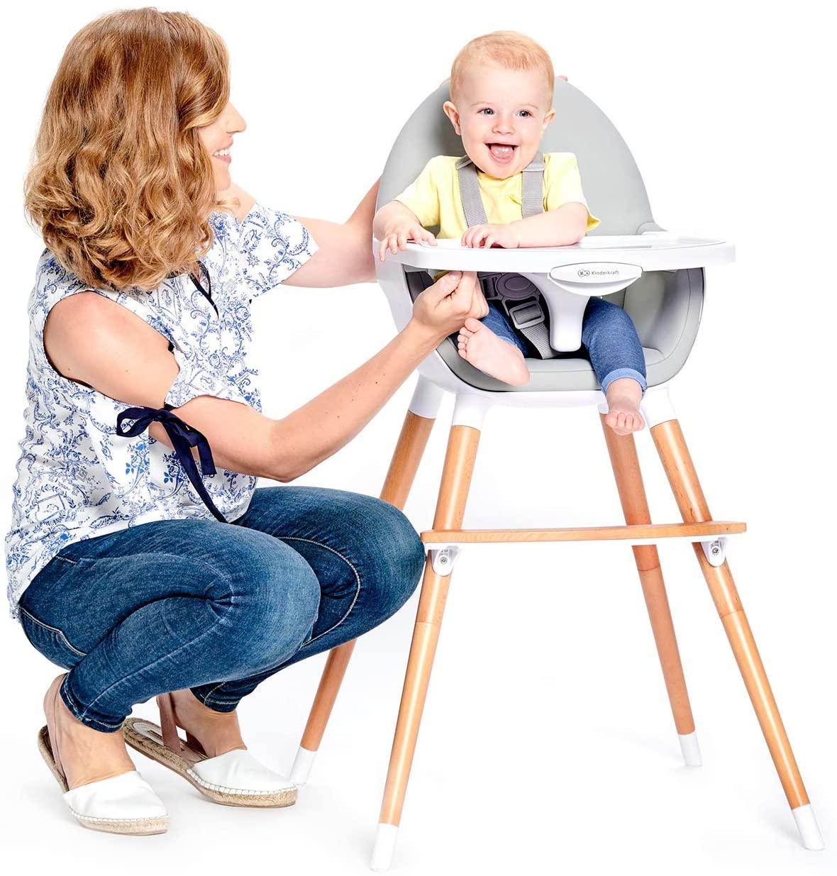 Cette chaise haute Kinderkraft est le modèle FINI.
