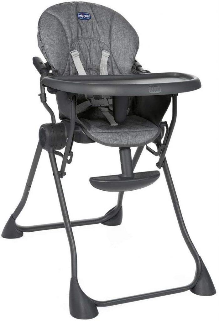 La chaise haute Pocket Meal est très compacte une fois pliée.