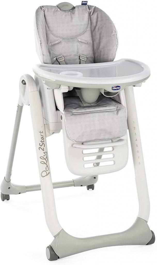 La chaise haute Polly 2 Start convient dès la naissance.