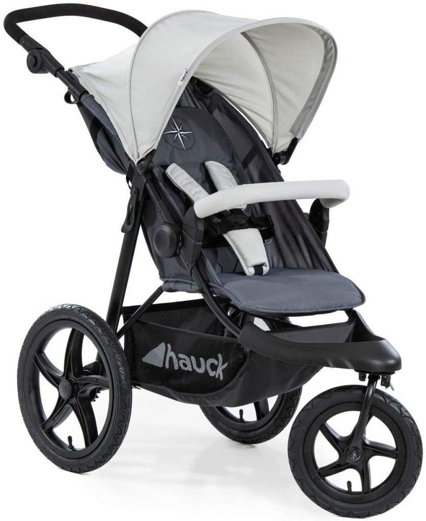 La poussette 3 roues Hauck Runner convient dès la naissance.