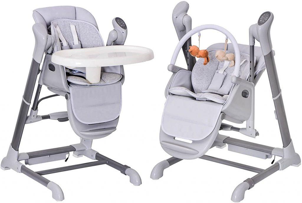 Le splity 3 en 1 est une chaise haute transat et balancelle.