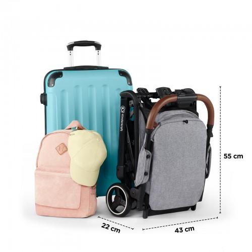 La poussette Kinderkraft Nubi est compatible comme bagage cabine.