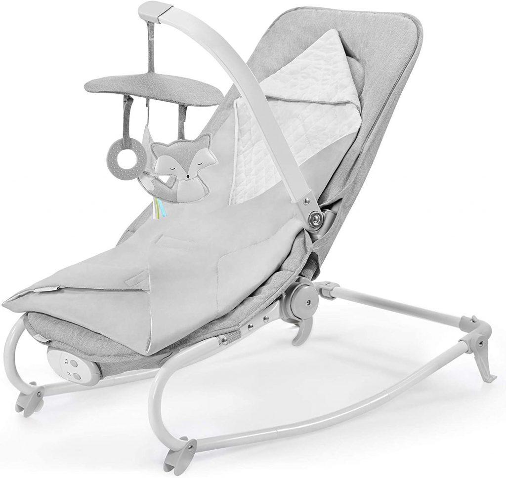 Le transat bébé Kinderkraft Felio est très compact une fois plié.