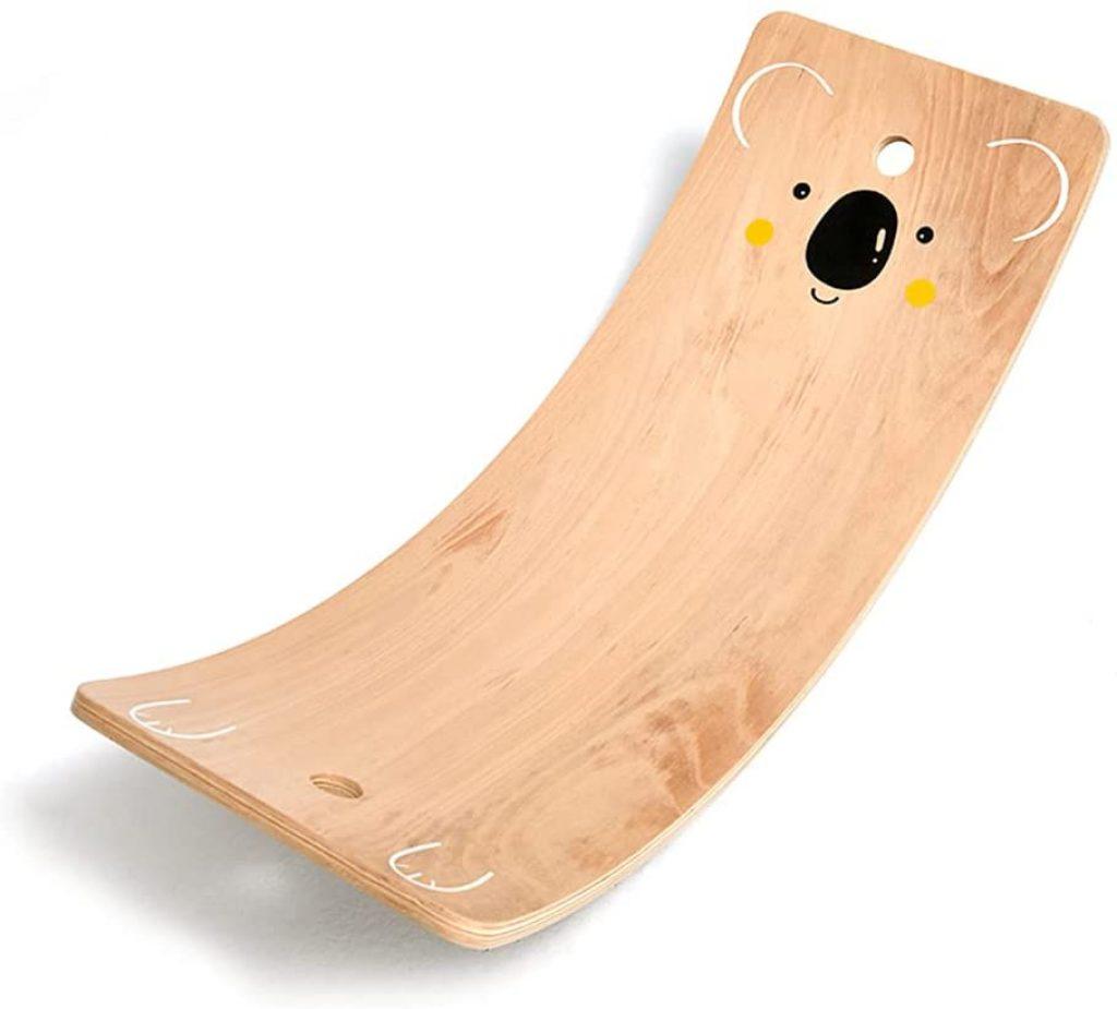 La planche d'équilibre en bois pour enfant PUCHIKA a un design adorable.