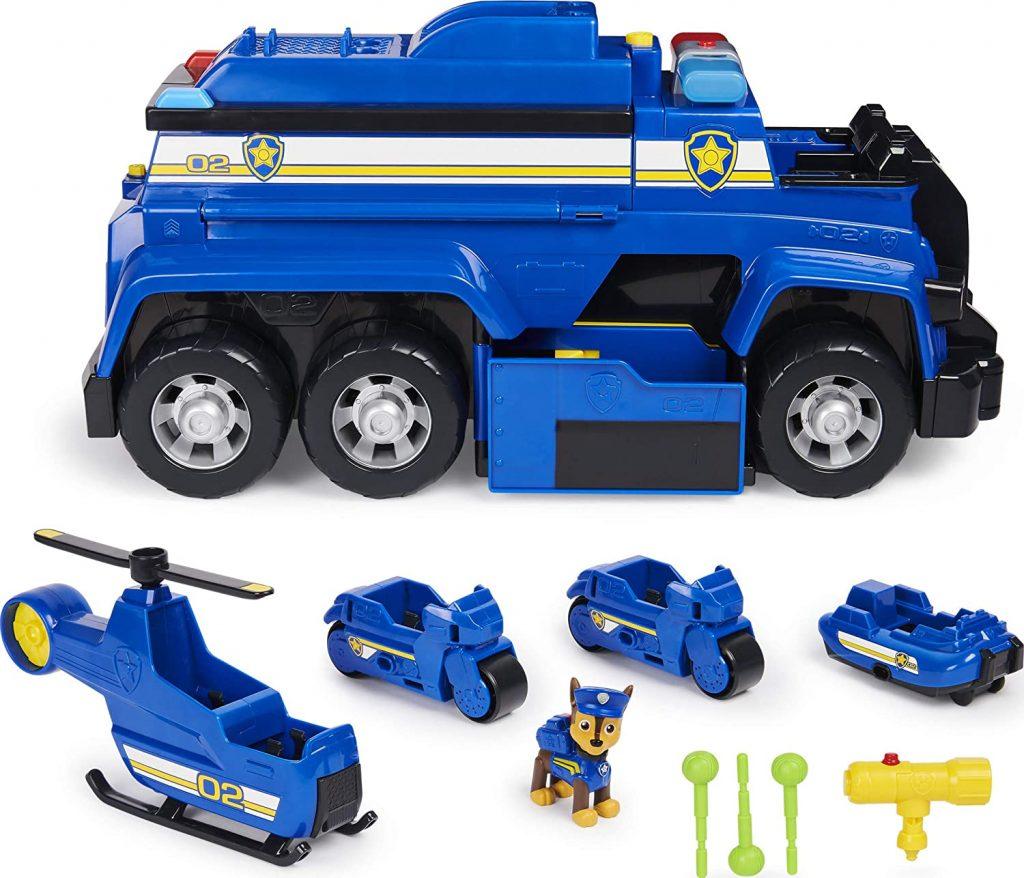 Ce camion de police de la Pat Patrouille comprend la figurine de Chase et 4 mini-véhicules.