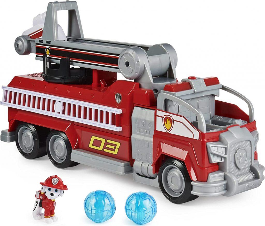 Ce camion de pompiers Pat Patrouille est celui de Marcus.