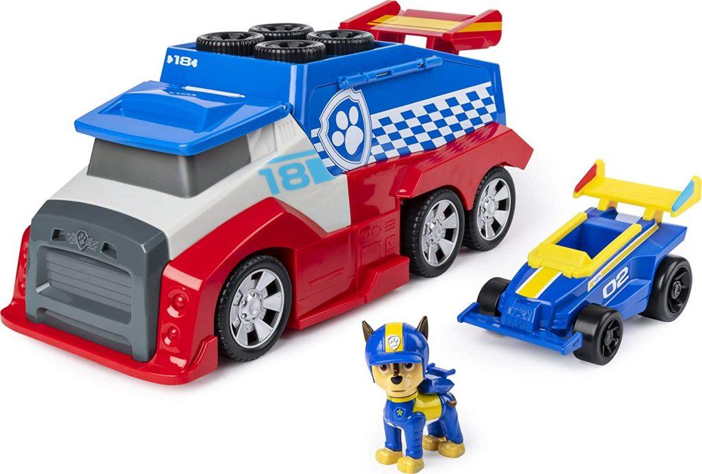 Le camion Pat Patrouille Mobile Ready Race Rescue peut relancer un véhicule dans sa course.