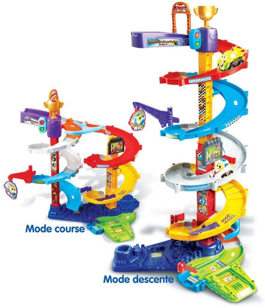 Le circuit tut tut bolide propose deux configurations de montage possibles.