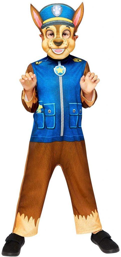 Ce déguisement de Chase de la Pat Patrouille comprend un masque.
