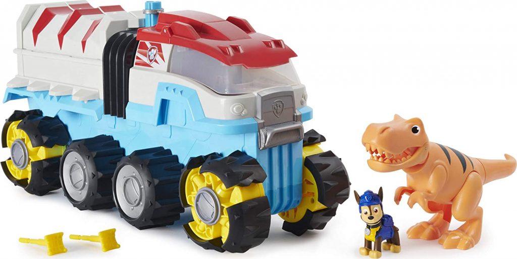 Le camion Dino Rescue de la Pat Patrouille avance tout seul car il est motorisé.