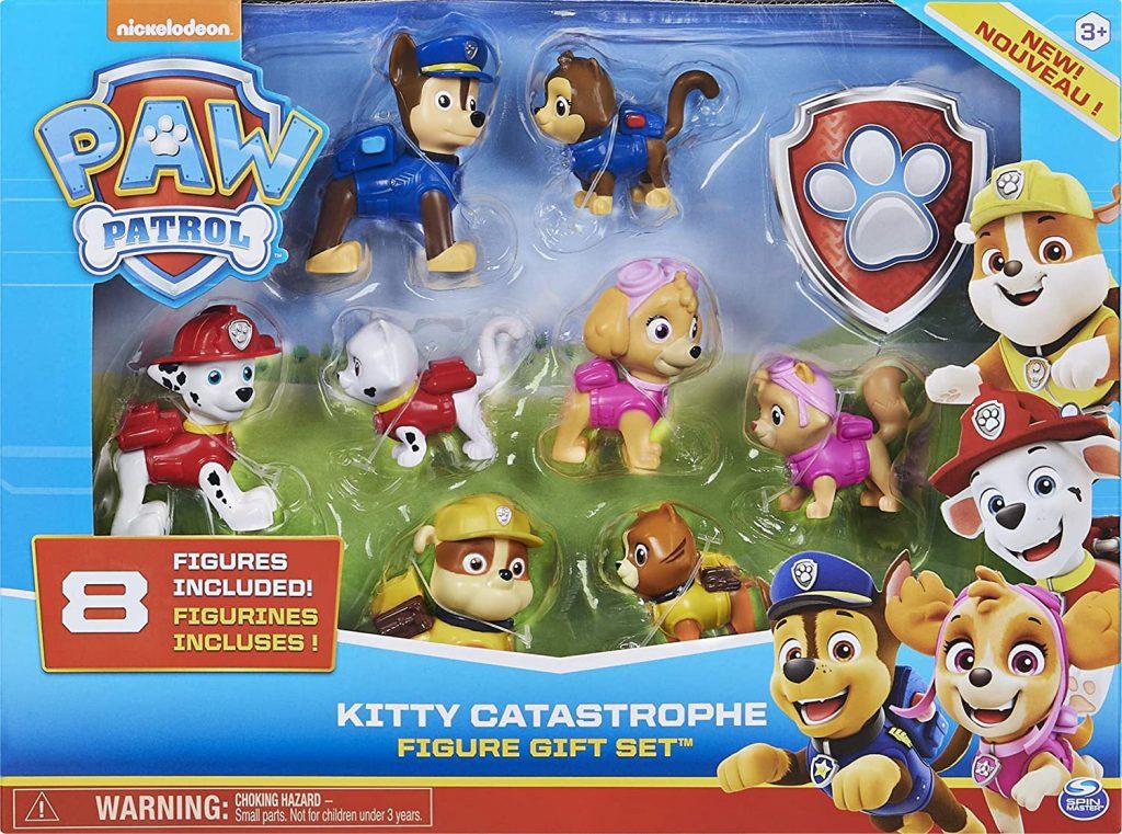 Ce pack inclut plusieurs figurines de la Pat Patrouille dont 4 chiens et 4 chats.