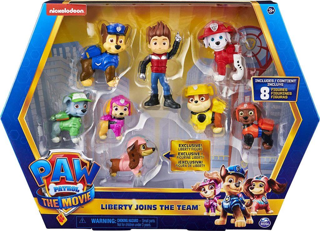 Ce coffret de figurines de la Pat Patrouille inclut Liberty.