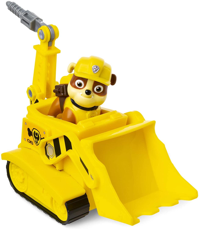 Ruben de la Pat Patrouille a un bulldozer jaune.