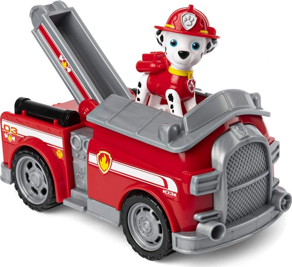 Ce véhicule Pat Patrouille de Marcus représente un camion de pompiers.