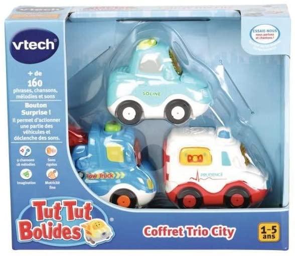 Chaque voiture Tut Tut Bolide est sonore et lumineuse.