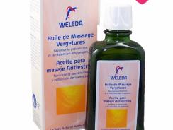 Prévention vergetures grossesse : huile de massage Weleda